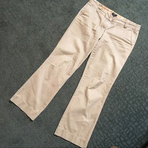 J Crew city fit boot cut chino trousers
